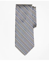 Brooks Brothers | Gray Herringbone Sidewheeler Stripe Tie for Men | Lyst