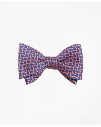 Brooks Brothers | Pink Bow Tie Motif Bow Print Tie for Men | Lyst