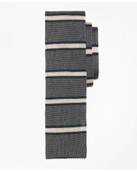 Brooks Brothers | Gray Framed Stripe Knit Tie for Men | Lyst