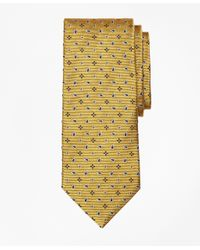 Brooks Brothers | Yellow Spaced Flower And Pine Tie for Men | Lyst