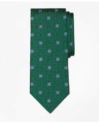 Brooks Brothers | Green Parquet Square Medallion Tie for Men | Lyst