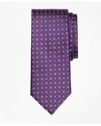 Brooks Brothers | Purple Textured Four-dot Flower Tie for Men | Lyst