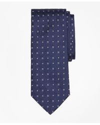 Brooks Brothers   Blue Tonal Square Medallion Tie for Men   Lyst