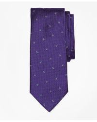 Brooks Brothers | Purple Tossed Golden Fleece® Parquet Tie for Men | Lyst