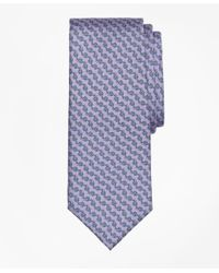 Brooks Brothers | Purple Chain Link Print Tie for Men | Lyst