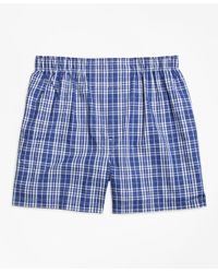 Brooks Brothers | Blue Traditional Fit Large Plaid Boxers for Men | Lyst