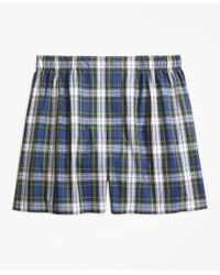 Brooks Brothers | Green Traditional Fit Dress Gordon Tartan Boxers for Men | Lyst