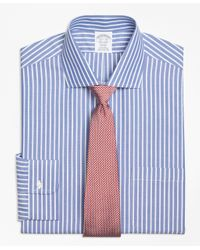 Brooks Brothers | Blue Non-iron Regent Fit Ground Stripe Dress Shirt for Men | Lyst