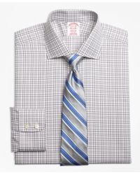 Brooks Brothers | Gray Non-iron Madison Fit Glen Plaid Dress Shirt for Men | Lyst