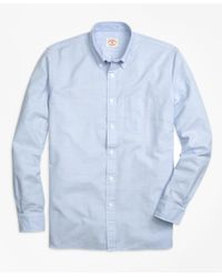 Brooks Brothers | Blue Solid Oxford Sport Shirt for Men | Lyst