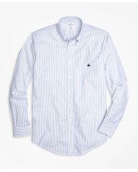 Brooks Brothers   Blue Non-iron Regent Fit Oxford Stripe Sport Shirt for Men   Lyst