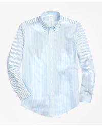 Brooks Brothers | Blue Non-iron Regent Fit Border Stripe Sport Shirt for Men | Lyst