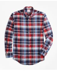 Brooks Brothers - Multicolor Madison Fit Multi Madras Sport Shirt for Men - Lyst