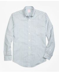 Brooks Brothers | Green Non-iron Madison Fit Stripe Sport Shirt for Men | Lyst