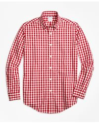 Brooks Brothers | Pink 4-20 Non-iron Mini Checked Shirt for Men | Lyst