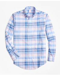 Brooks Brothers | Pink Non-iron Brookscool® Madison Fit Plaid Sport Shirt for Men | Lyst