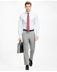 Brooks Brothers - Gray Fitzgerald Fit Brookscool® Trousers for Men - Lyst