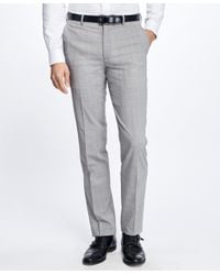 Brooks Brothers | Gray Fitzgerald Fit Brookscool® Plaid Trousers for Men | Lyst