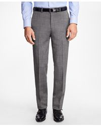 Brooks Brothers - Gray Regent Fit Wool And Mohair Trousers for Men - Lyst