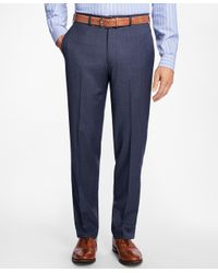 Brooks Brothers | Blue Madison Fit Mult-check Dress Trousers for Men | Lyst