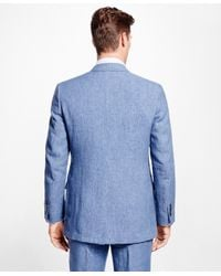 Brooks Brothers - Blue Fitzgerald Fit Linen Sport Coat for Men - Lyst