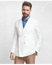 Brooks Brothers | White Golden Fleece® Double-breasted Twill Sport Coat for Men | Lyst