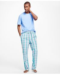 Brooks Brothers - Green Multi-plaid Lounge Set for Men - Lyst
