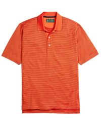 Brooks Brothers | Orange St Andrews Links Thin Stripe Polo Shirt for Men | Lyst