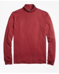 Brooks Brothers | Red Supima® Cotton Turtleneck for Men | Lyst