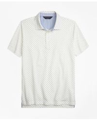 Brooks Brothers | White Slim Fit Mini-floral-print Pique Polo Shirt for Men | Lyst