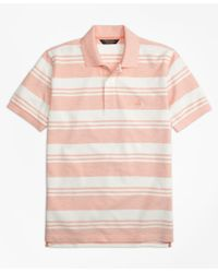 Brooks Brothers | Pink Original Fit Oxford Pique Beach Stripe Polo Shirt for Men | Lyst