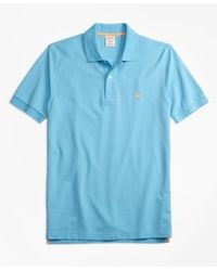 Brooks Brothers | Blue Original Fit Supima® Cotton Performance Polo Shirt for Men | Lyst