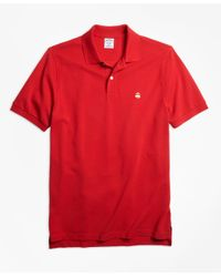 Brooks Brothers | Red Slim Fit Supima® Cotton Performance Polo Shirt-basic Colors for Men | Lyst