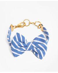 Brooks Brothers | Kiel James Patrick Light Blue Stripe Bow Bracelet | Lyst