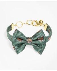 Brooks Brothers | Green Kiel James Patrick Fox Bow Tie Bracelet | Lyst