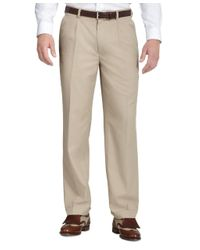 Brooks Brothers | Natural St Andrews Links Pleat-front Pants for Men | Lyst
