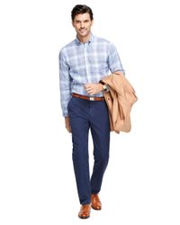Brooks Brothers - Blue Milano Fit Garment-dyed Chinos for Men - Lyst