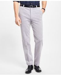 Brooks Brothers | Gray Clark Fit Wide Wale Stretch Corduroys for Men | Lyst
