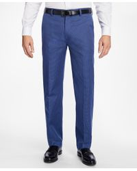 Brooks Brothers | Blue Clark Fit Micro-check Advantage Chinos® for Men | Lyst