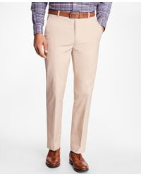 Brooks Brothers | Natural Clark Fit Supima® Cotton Poplin Pants for Men | Lyst