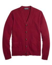 Brooks Brothers | Purple Cashmere Button-front Cardigan for Men | Lyst