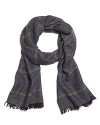 Brooks Brothers - Gray Tweed Print Scarf for Men - Lyst