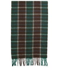 Brooks Brothers - Green Two-color Plaid Scarf for Men - Lyst