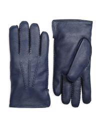 Brooks Brothers | Blue Deerskin Cashmere Lined Gloves for Men | Lyst