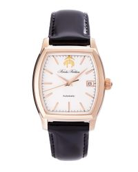 Brooks Brothers | Black Rectangular Watch With Calfskin Band for Men | Lyst