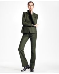 Brooks Brothers - Green Wool Twill Trousers - Lyst