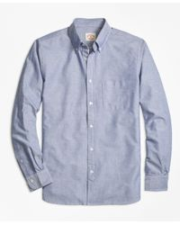 Brooks Brothers | Blue Selvedge Oxford Sport Shirt for Men | Lyst