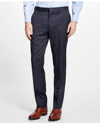 Brooks Brothers - Multicolor Slim-fit Checkered Stretch-wool Trousers for Men - Lyst
