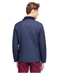 Brooks Brothers - Blue Quilted Jacket - Lyst