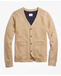 Brooks Brothers | Natural Double-knit Cotton Cardigan | Lyst